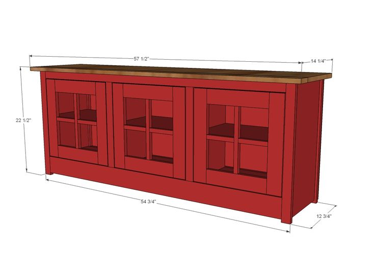 Ana White   Build a Farmhouse Media Console - Patrick Hosey   Free and Easy DIY Project and Furniture Plans