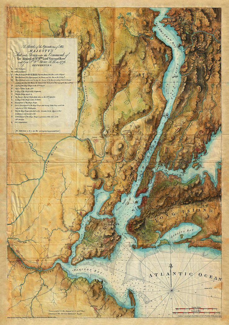 Map depicting the British operations around New York City the harbor and Hudson…