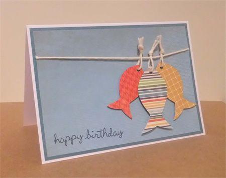 Fishy Fishy - Handmade Male Birthday Card | AvaDay Creations | madeit.com.au
