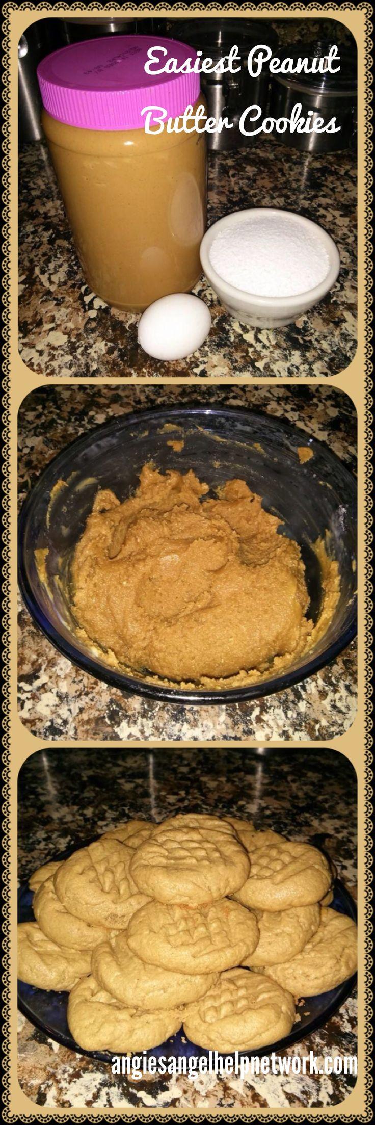 Easiest #PeanutButter #Cookies