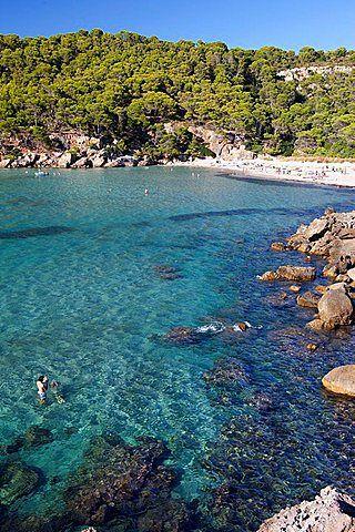 Algaiarens Beach in Menorca, Spain. -->Elsie RC