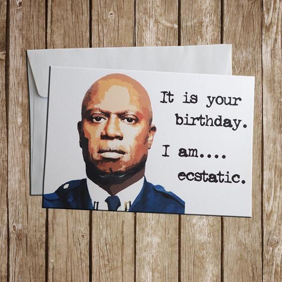 Brooklyn Nine Nine Captain Holt Birthday Card Birthday Cards For Friends 21st Birthday Cards 30th Birthday Cards