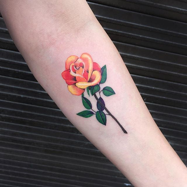 Tattoo Ideas Yellow Rose: 17 Best Ideas About Small Rose Tattoos On Pinterest
