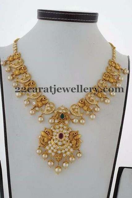Peacock Mango Necklace - Jewellery Designs