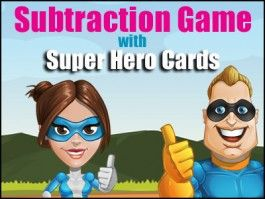 Top or Tail - Subtraction Game - 5  Different Card Decks for easy differentiation - Number, Numbers as Words, A Tally Deck, A Ten Frame Deck and a Dots Deck.