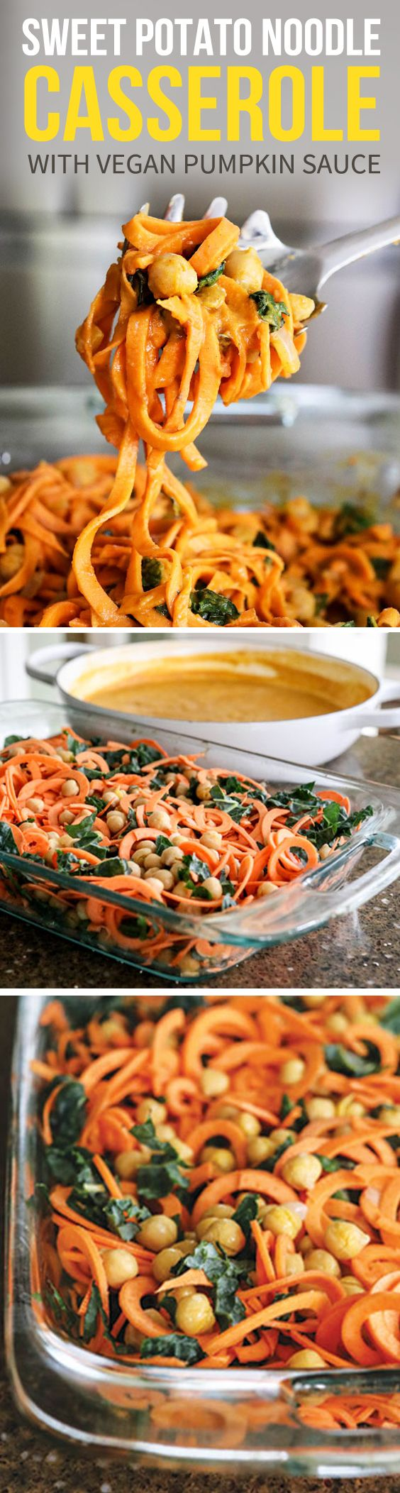 This Make-Ahead Vegan casserole makes a quick weeknight dinner or easy freezer meal. It tastes like a Fall-inspired baked spaghetti and is naturally dairy-free, gluten-free and nut-free. I add chickpeas for plat-based protein, but if you're on a Paleo diet you could swap those for high-quality meat, if you prefer. Cooking video #sponsored by Samsung.