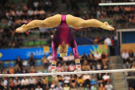 Shawn Johnson #KyFun Olympic gymnast women's gymnastics uneven bars