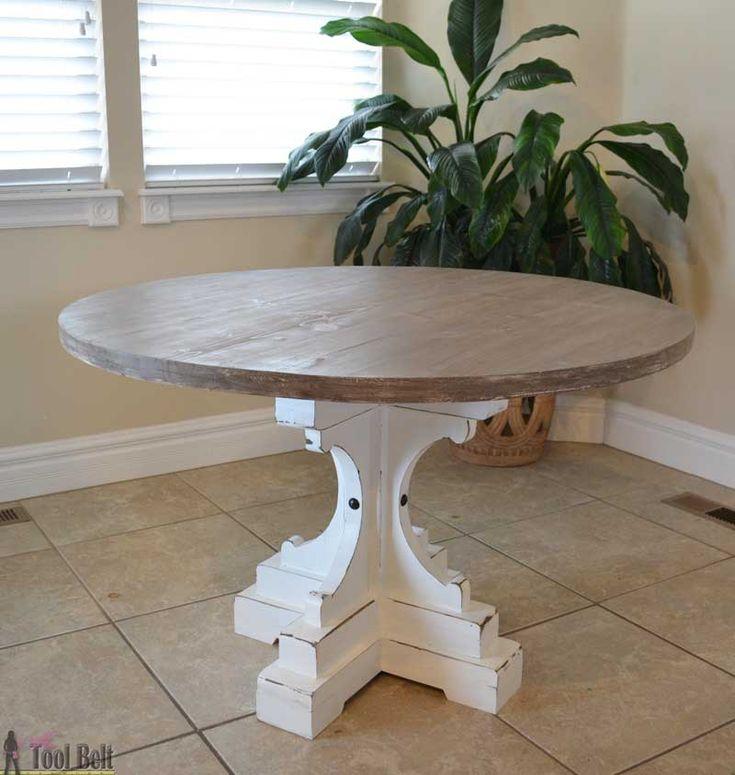259 best diy dining tables images on pinterest dining for Pedestal table diy