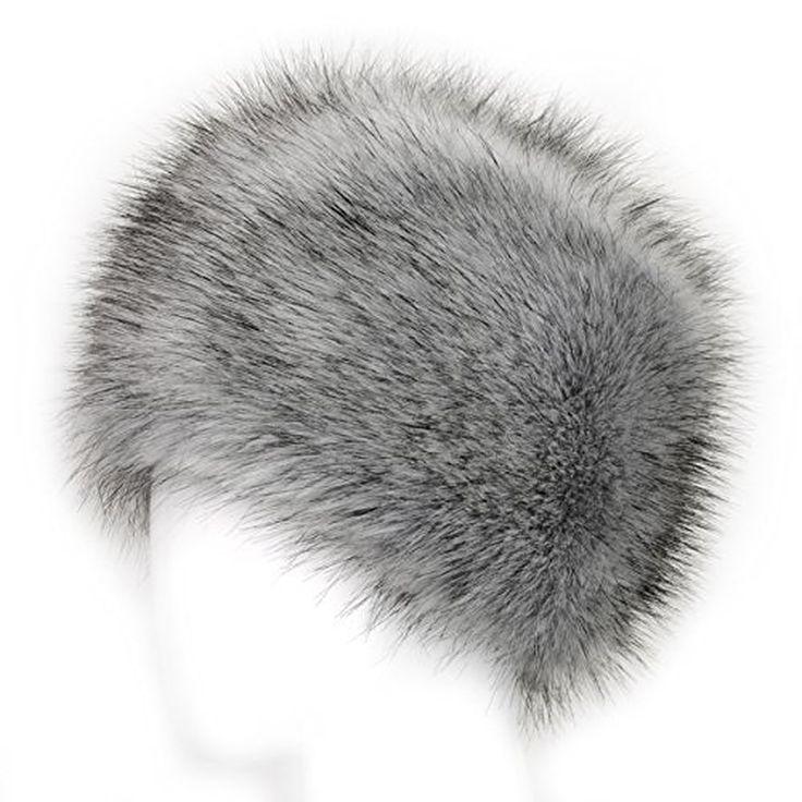 Futrzane Faux Fur Cossak Russian Style Hat for Ladies Winter Hat for Women