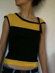 tuto top bicolore jaune_noir_1