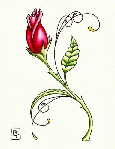 Rosa,flash tattoo, acuarela (13,5X17,5cm)a
