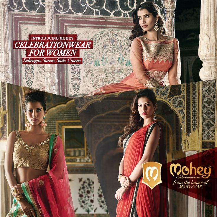 Manyavar presents #CelebrationWear for women. Handpicked Lehengas, Gowns, Suits and Sarees that match lifetime moments. Now available in your city!