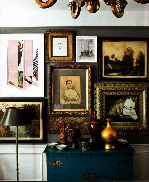 beautiful gallery wall: