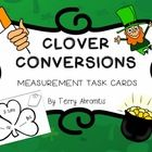 $2.50 This activity contains fun task cards for converting customary and metric measurements to address Common Core Standard 5.MD.1.    With a St. Patrick'...