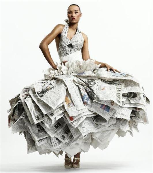 Фото платье из газет