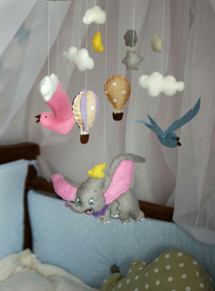 Felt mobile, nursery, crib, by lera @rosesonthestone