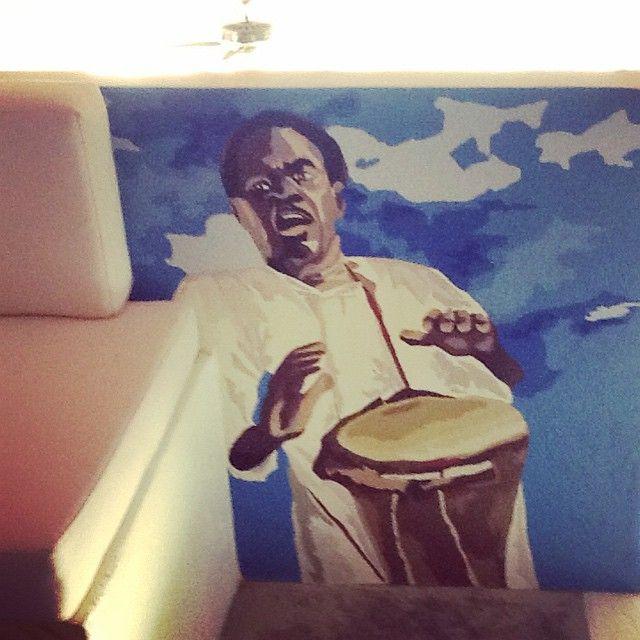 #mural #musico caribeño creado en #baru #cartagena #colombia