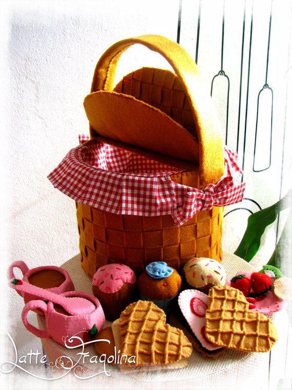 Picknick-set mit Süßigkeiten Tassen und von LatteFragolina auf Etsy