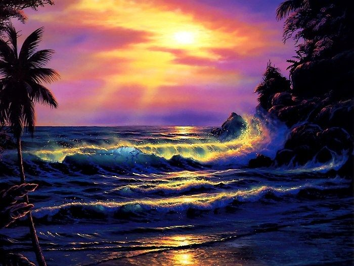 Sunset With Sea Wave Tap To See More Breathtaking Beach: 194 Best Images About CHRISTIAN RIESE LASSEN On Pinterest