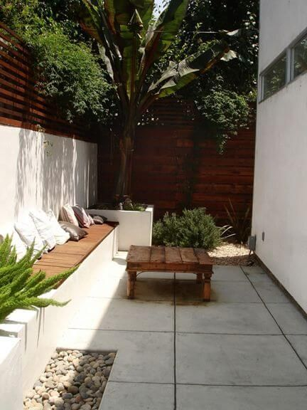Small Backyard Home Design Idea - useful for narrow space, maybe side yard