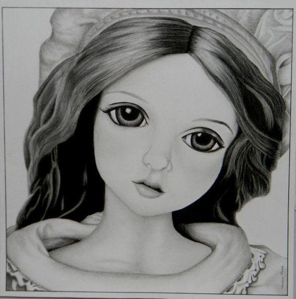 Les 20 meilleures images du tableau mes techniques beaux arts sur pinterest crayons croquis - Coloriage fillette ...