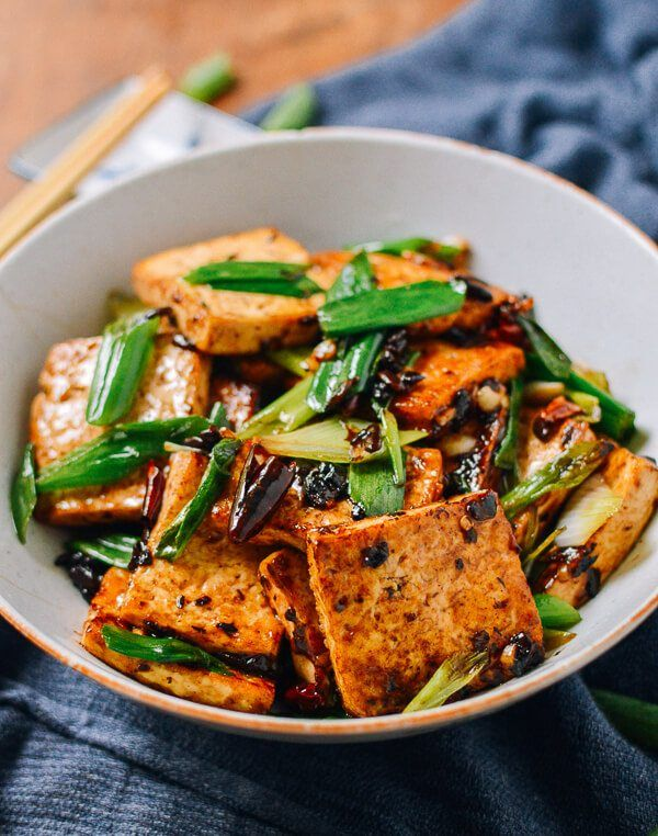 Tofu With Black Bean Sauce Recipe Tofu Dishes Vegetarian Dishes Asian Recipes
