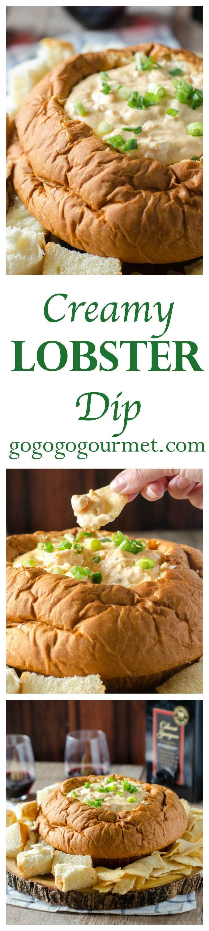 Msg 4 21+ A super short ingredient list and a crockpot make this luscious party dip an absolute breeze! Creamy Lobster Dip | Go Go Go Gourmet @gogogogourmet #ad #GameDayParty
