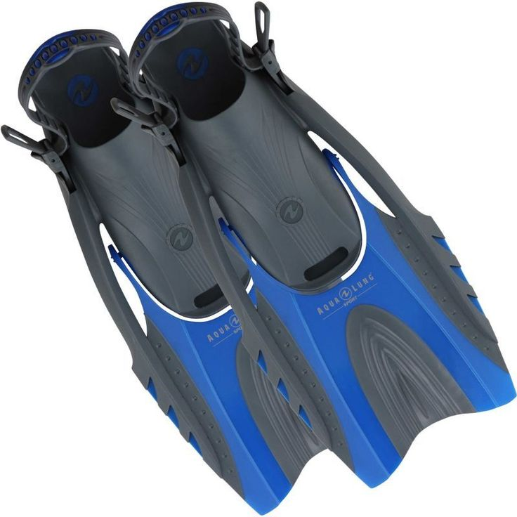 Aqua Lung Adult Hingeflex Snorkel Fins, Blue/Black