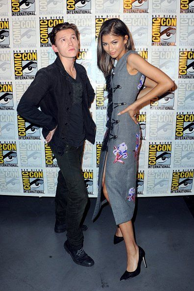 Zendaya with Tom Holland at San Diego Comic-Con 2016 7/23/16