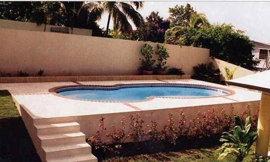 Stylish semi inground pool terrace swimpool jacuzzi - Semi above ground pool ideas ...