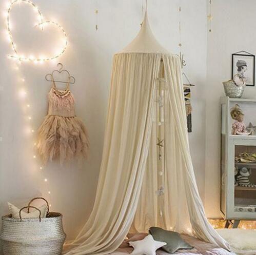 240 cm bébé salle décoration de la maison lit rideau Ronde Lit Compensation bébé tente coton Accroché Dôme bébé Moustique Net photographie accessoires