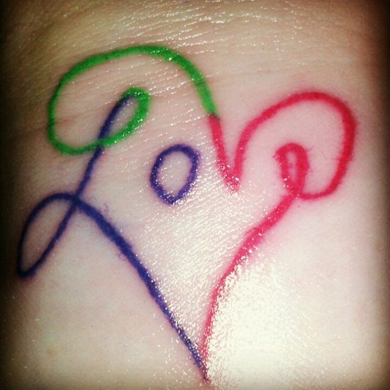 14 best A Love Through Tattoo Designs images on Pinterest   Cool ...