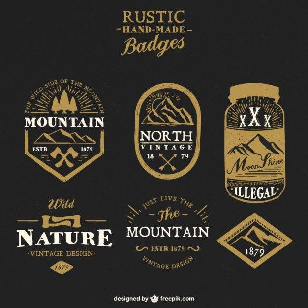 Rustic handmade badges