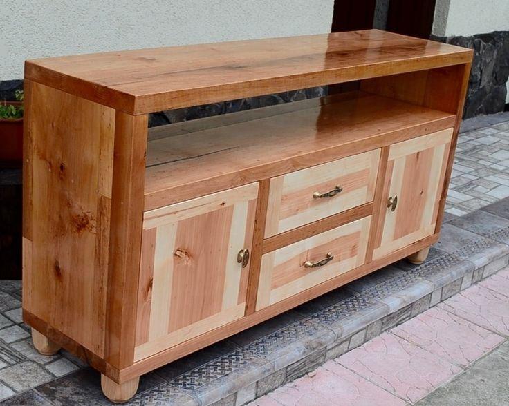 Alder Wood TV Stand