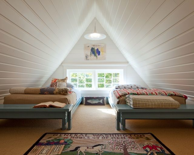Even the attic has been opened up. Once an unfinished space full of dust and bare rafters (and only accessible by a pull-down ladder), the a...