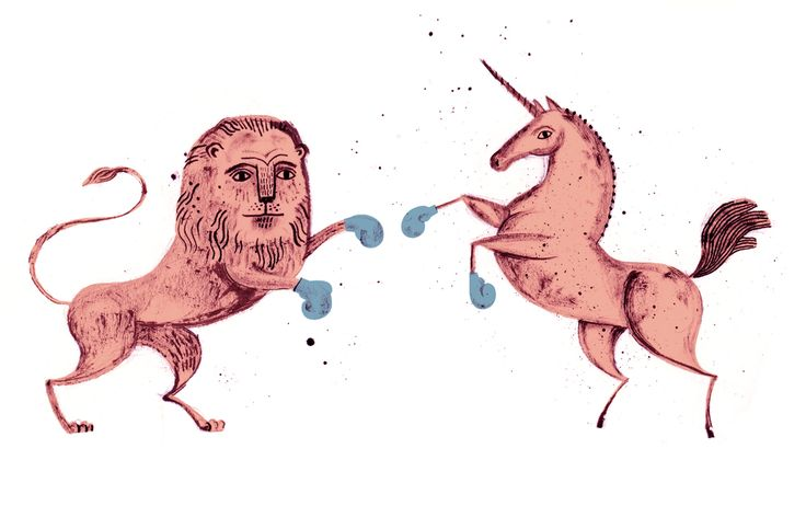 Lion and Unicorn by Lucy Panes