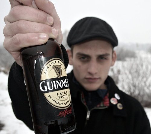 guy with guinness