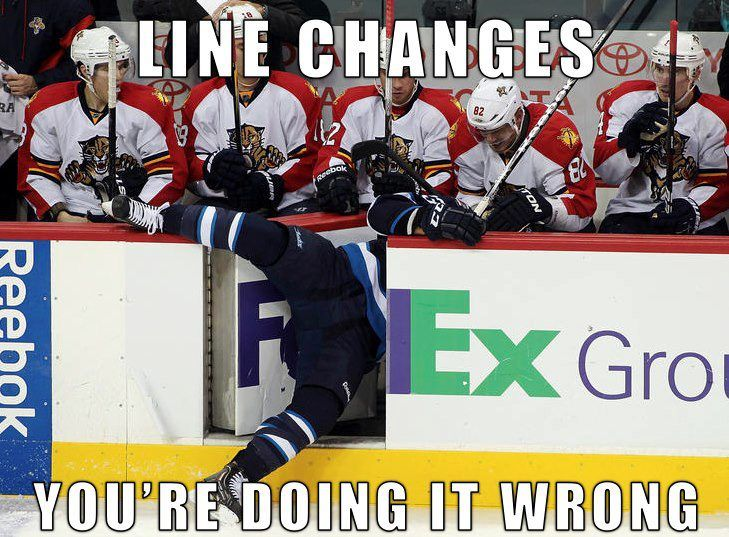 Line changes - You're doing it wrong. Too funny! I love this! A little comic relief!