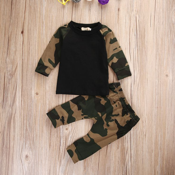 Fashion Baby Boy Camouflage Clothing Set Newborn Baby Boys Kids Cotton T shirt Tops Pants Outfit. Click visit to buy #BabyBoyClothingSets