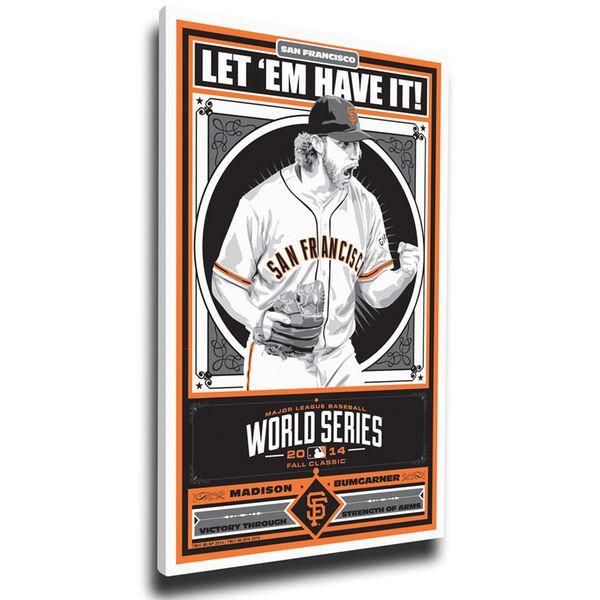 "Madison Bumgarner San Francisco Giants 20"" x 26"" 2014 World Series Champions Player Propaganda Canvas Print - $79.99"