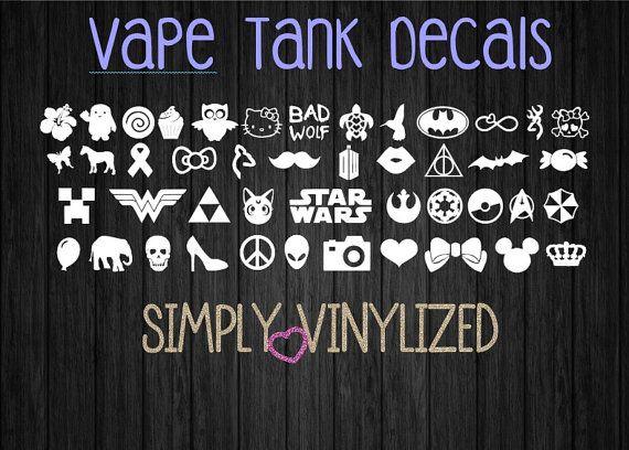 Vape Tank Decals by SimplyVinylized on Etsy