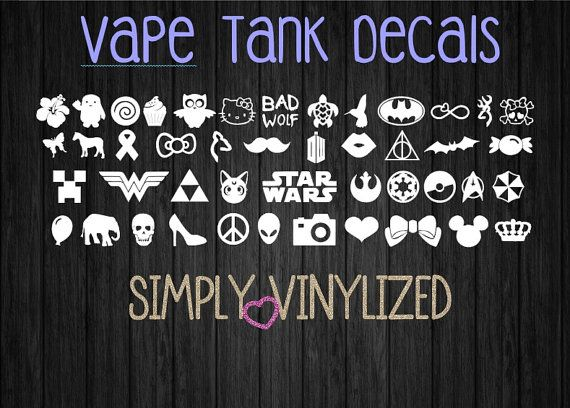 Vape Tank Decals by SimplyVinylized on Etsy
