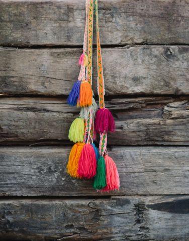Hanging Peruvian Pom Pom Tassels