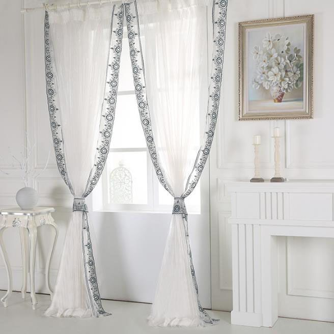 White Floor To Ceiling Long Beautiful Custom Sheer Curtains Romantic Curtains Lace Bedroom Curtains Bedroom