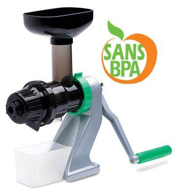 Extracteur de jus manuel Z-Star 710 de chez Tribest, garanti sans BPA  http://www.nature-vitalite.com/fr/produit/26/Extracteurs-de-Jus/Z-Star