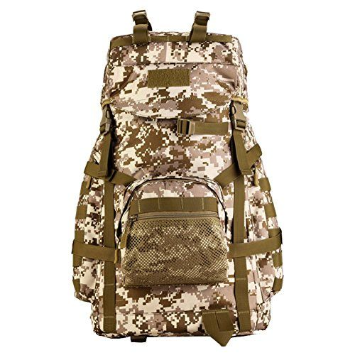 Peyan 55L Tactical Military Assault Backpack Pack Large Waterproof Bag Rucksack Sport Outdoor Gear Hunting Camping Trekking Bag ** To view further for this item, visit the image link.(This is an Amazon affiliate link and I receive a commission for the sales)
