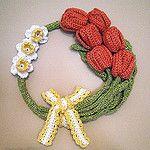 Free Crochet Spring Wreath Pattern
