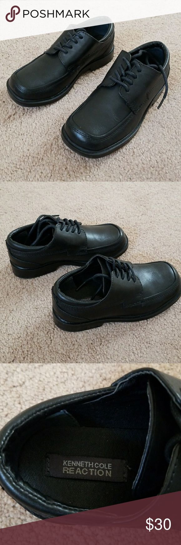 *NEW* little boys dress shoes, sz 11.5 Worn once for a few hours. In brand new condition. No signs of wear at all. Black. Toddler (little boy) size 11.5 M. Kenneth Cole Reaction Shoes Dress Shoes