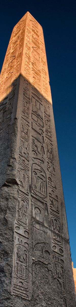 Obelisks @ Karnak  how did they reach the tip to design the art                                                                                                                                                     More