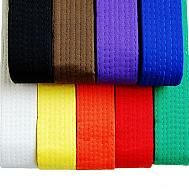 Martial Arts Belts for Karate, Judo, Ju Jitsu & Taekwondo